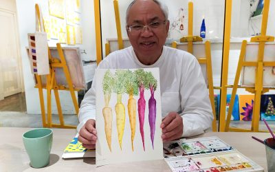 yellow-easel-art-class-watercolour-painting-for-adult-art-studio-in-kuala-lumpur-kl